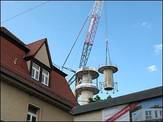 Der Funkturm wird stückweise abgetragen