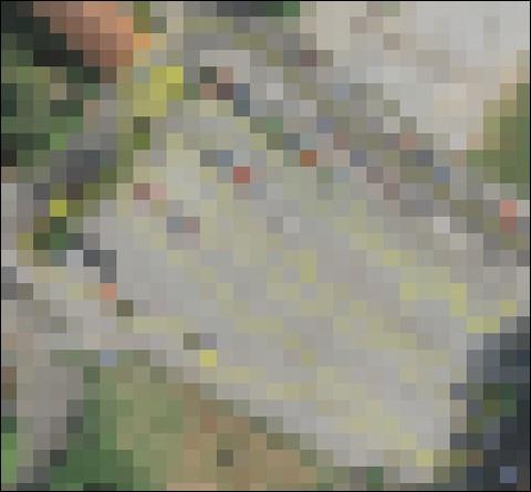 Marschroute im Luftbild