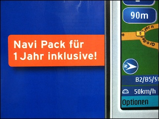 Werbeplakat im Nürnberger Hauptbahnhof
