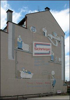 östliche Wandbemalung des Hauses Karolinenstraße 52