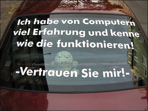 Automobil eines 'Fachinformatikers für Systemintegration'