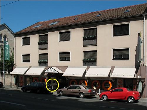 Geschäftshaus der Fa. Kuhnle in der Königstraße 141