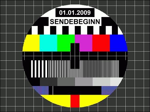 Testbild zum Sendebeginn