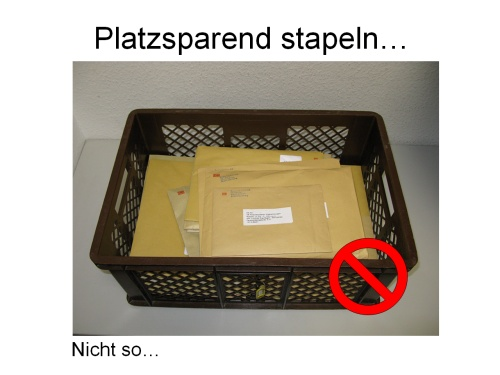 So schaut der Postkorb regelmäßig aus...