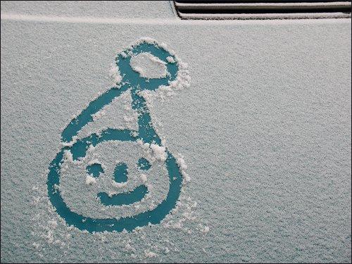 Bald wird lustigen Schnee-Malereien hoffentlich die Grundlage entzogen sein...