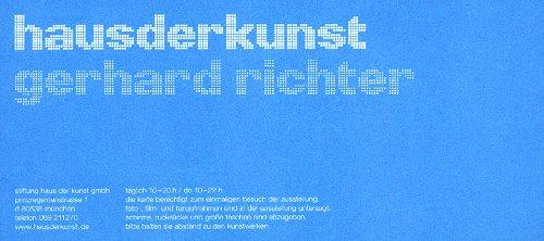 Eintrittskarte zur Ausstellung William Eggleston im Münchener Haus der Kunst