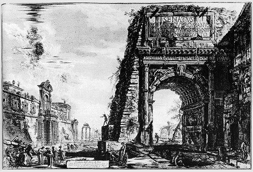 Piranesi (1720-1778): Bogen des Titus