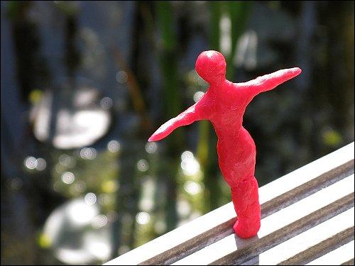 von Jenni Beyer aus Babybel-Wachs geformte Figur