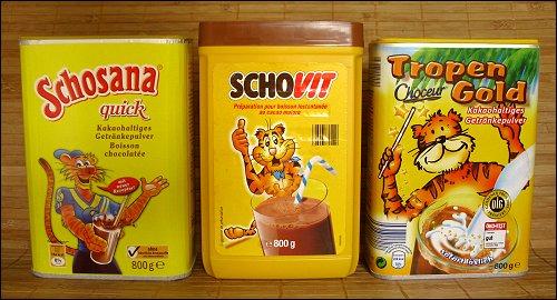 getigerte Milchmixgetränkepulververkaufsverpackungen