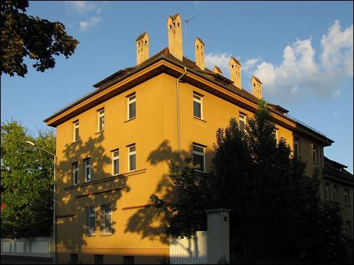 Das Eckhaus Balbiererstraße/Jupiterweg