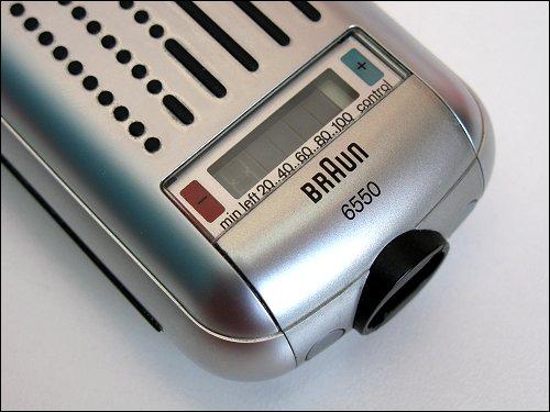 luxuriöse Ladezustandsanzeige am Braun 6550 als Distinktionsmerkmal zum 6520