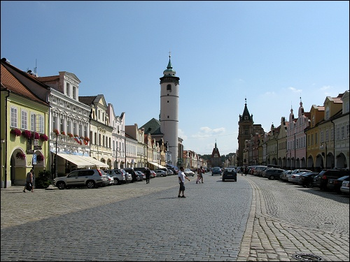 Der Marktplatz von Domažlice