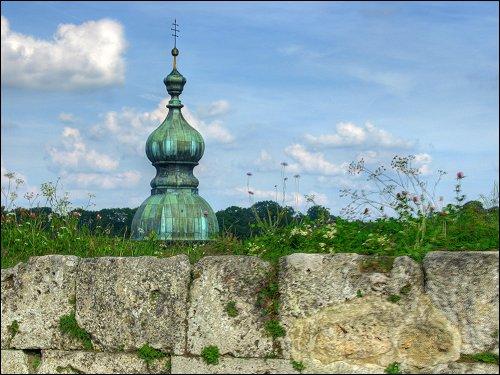 Blick über die Burghausener Burgmauer