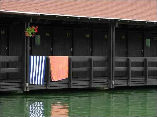 Umkleidekabinen im Wöhrsee-Freibad
