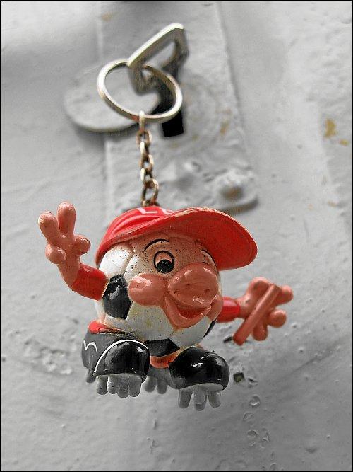 ein fröhlicher Schlüsselanhänger