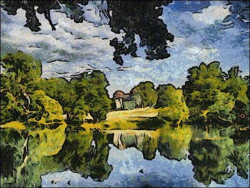 Stil 'Starry Night' (nach dem Gemälde von Vincent van Gogh)
