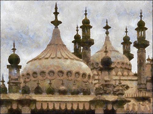 computergeneriertes 'Gemälde' des Royal Pavilion zu Brighton