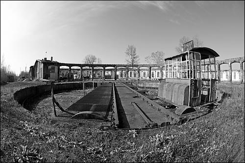 im ehemaligen Bahnbetriebswerk Bamberg