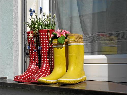 Hauptsache dicht: höchst ungewöhnliche Blumentöpfe