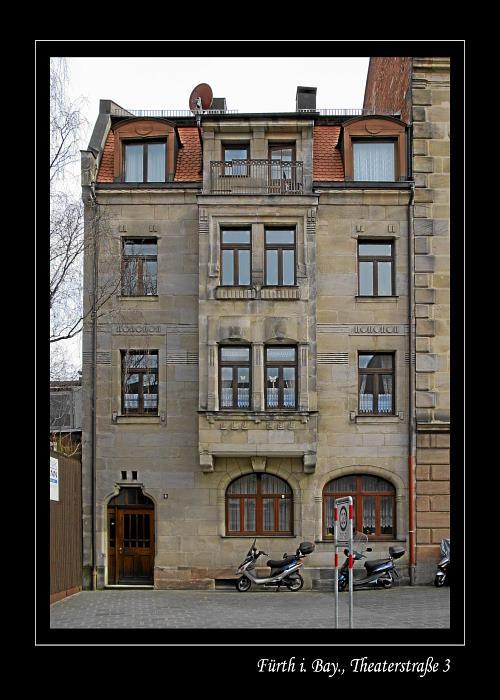 Das Jugendstilhaus in der Fürther Theaterstraße Nr. 3