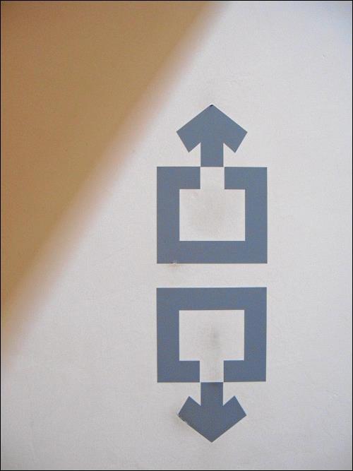 Aufzugs-Piktogramme in der Kunsthalle Würth, Schwäbisch Hall