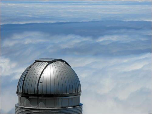 Kuppel eines Observatoriums am höchsten Punkt La Palmas