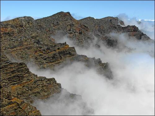 Spiel der wabernden Wolken am Roque de los Muchachos