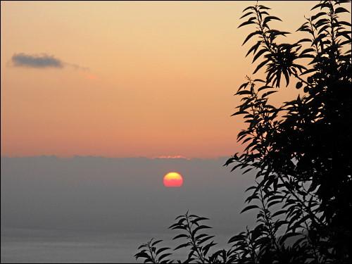 Sonnenuntergang, gesehen von La Laguna aus