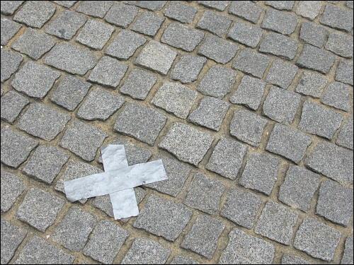 Pflaster auf Pflaster am Nürnberger Klarissenplatz