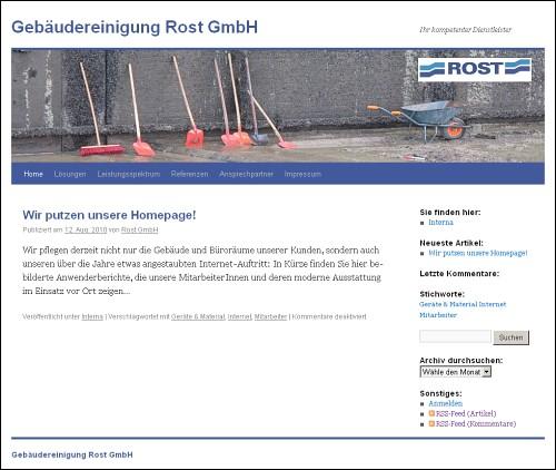 Screenshot von www.gebaeudereinigung-rost.de