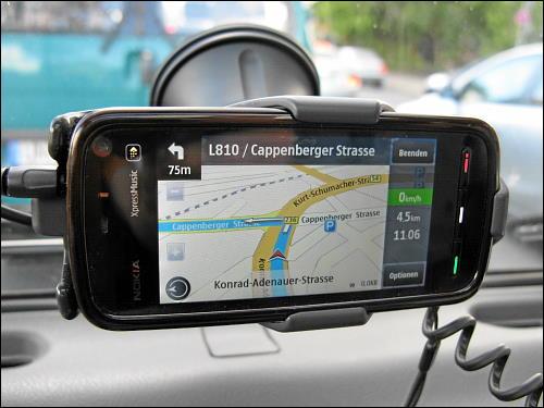 Nokia 5800 XpressMusic im Einsatz als Navigationssystem