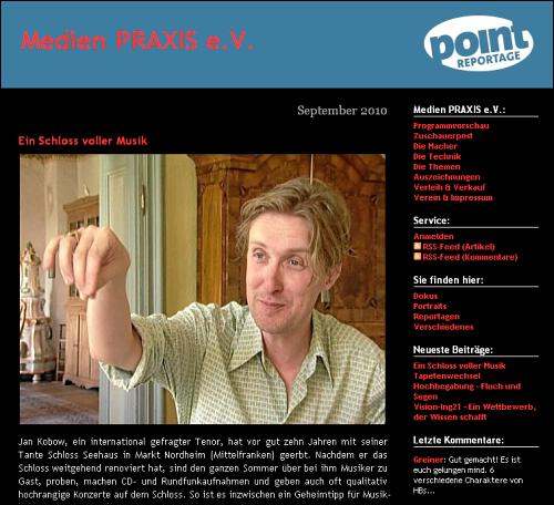 experimenteller Screenshot von medienpraxis.tv