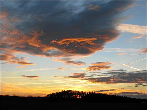 Abendhimmel unweit von Kirchröttenbach