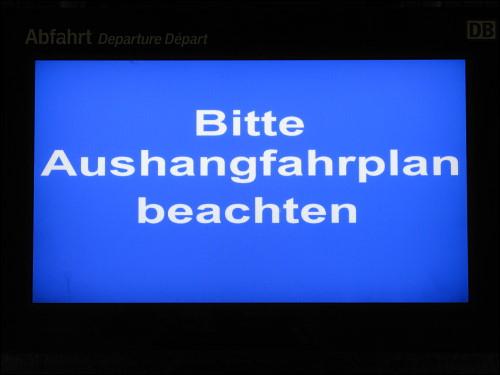 auskunftsfauler Zuganzeiger in Fürth (Bay) Hbf