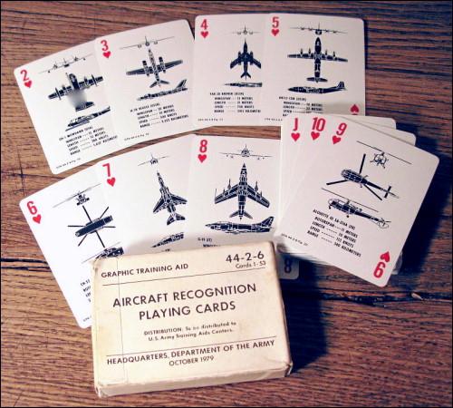 militärisches Kartenspiel zur Flugzeugerkennung