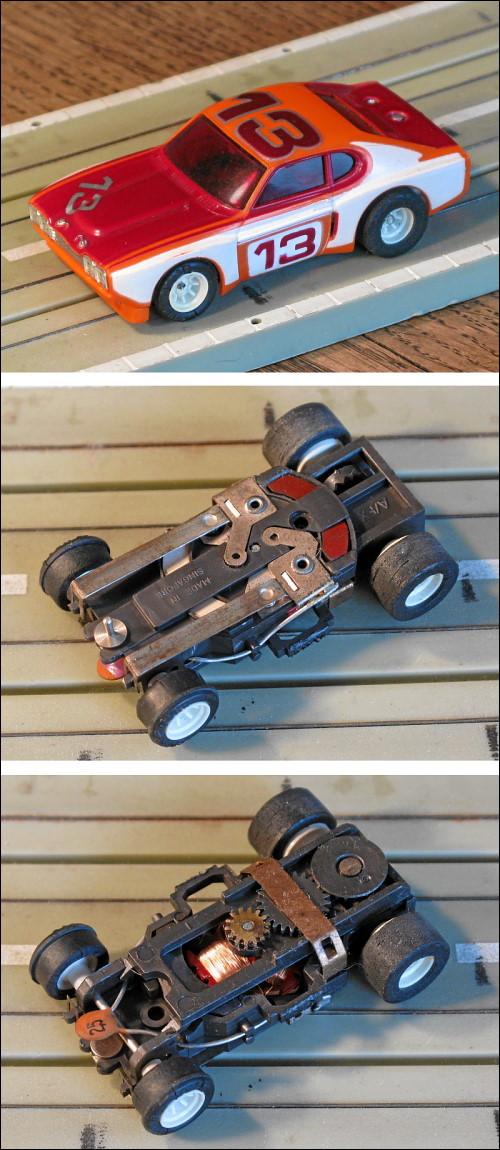 Auktionsfoto für ein altes Slotcar-Modell
