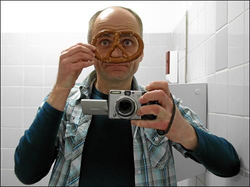 Selbstportrait im dienstlichen Waschraum