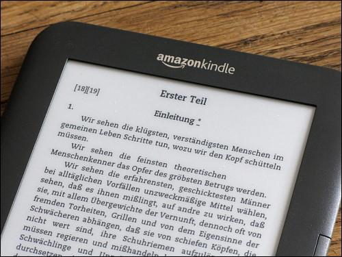 gestochen scharf und fast so gut wie Papier: das eInk-Display des Kindle