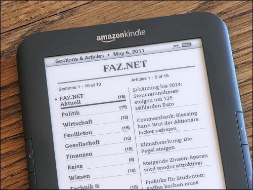 Der kostenlose Feed von FAZ.NET, aufbereitet und zum Kindle gesendet durch calibre