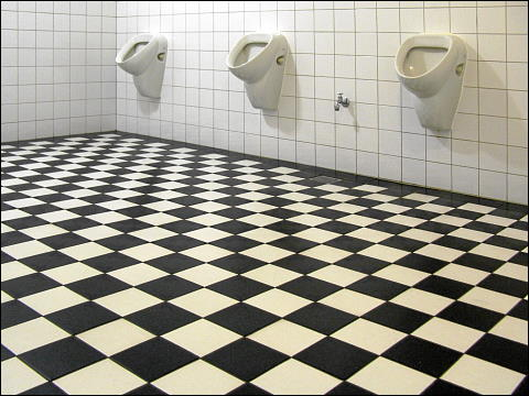 Urinale in den Hamburger Deichtorhallen
