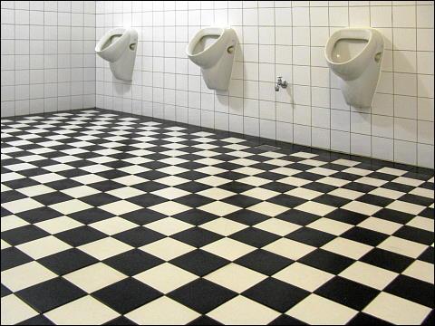 Urinale in den Hamburger Deichtorhallen