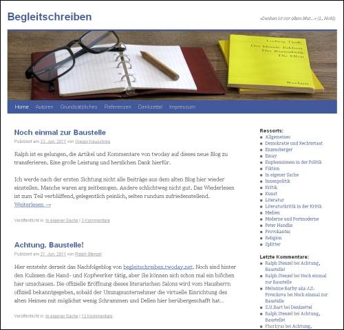Screenshot von www.begleitschreiben.net