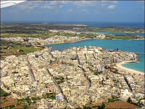 im Anflug auf Malta