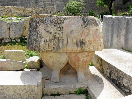 »Magna Mater« in der Tempelanlage von Tarxien