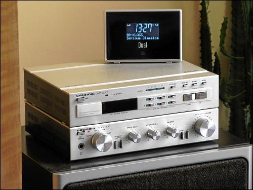 Dual DAB 1A Digitalradio auf des zonebattler's GRUNDIG Mini-Anlage