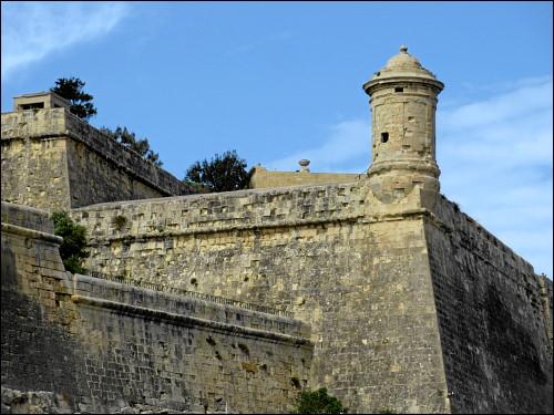 Festungsmauer bei Valletta