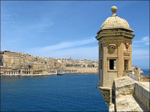 Wachturm am Grand Harbour von Valletta