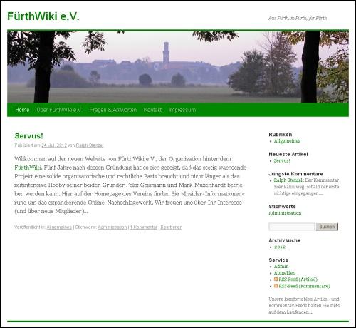 Screenshot von www.fuerthwiki.de/verein/