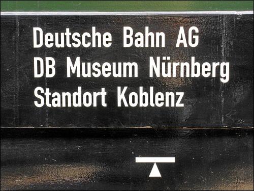 im DB Museum Nürnberg, Standort Koblenz