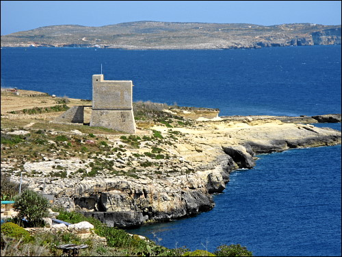alter Wachturm an der Südküste Gozos